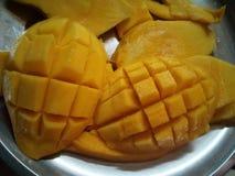 Tranche de mangue image stock