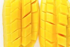 Tranche de mangue Photographie stock