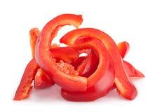 Tranche de poivron rouge Image stock