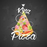 Tranche de roi de pizza Photographie stock