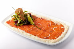 Tranche de saumons du plat photos libres de droits