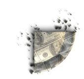 Tranche de tarte d'argent de dollar US Image stock