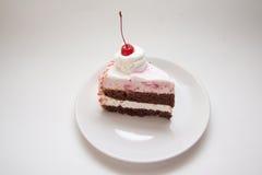Tranche de tarte de chocolat Images stock