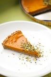 Tranche de tarte de potiron Images stock