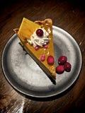 Tranche de tarte de potiron photo libre de droits