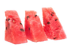 Tranche de triangle de fruit de pastèque Photos stock