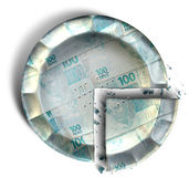 Tranche de vrai tarte brésilien d'argent Image stock