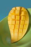 Tranche douce de mangue de plat vert Images libres de droits