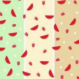 Tranche et Juice Pattern de pastèque avec le fond coloré Illustration de vecteur Photographie stock