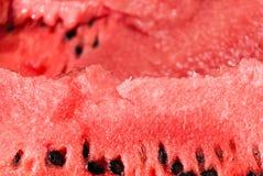 Tranche fraîche de fin de pastèque de jucy  Photo stock