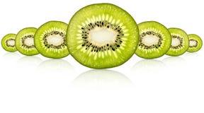Tranche fraîche de kiwi Image stock