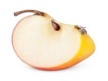 Tranche jaune rouge de pomme Images stock