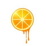 Tranche juteuse d'orange de vecteur illustration libre de droits