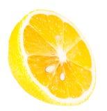 Tranche mûre juteuse de citron Photographie stock libre de droits