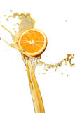 Tranche orange Photos stock