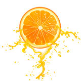 Tranche orange illustration libre de droits