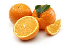Tranche orange et orange fraîche Images stock