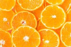 Tranche orange pour la nourriture saine Photos stock