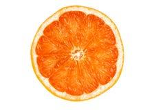 Tranche ronde d'orange savoureuse mûre d'isolement sur le blanc Photo stock