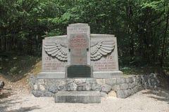 Tranchee de la Soif WW1 minnes- near St Mihiel, Frankrike Arkivfoton