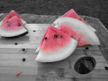 Tranches abstraites de pastèque images libres de droits