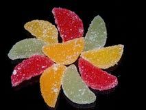 Tranches colorées de gelée photographie stock libre de droits