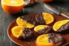 Tranches délicieuses d'orange Image libre de droits