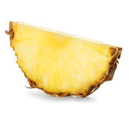 Tranches d'ananas sur le blanc image stock