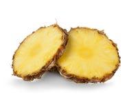 Tranches d'ananas sur le blanc photo stock