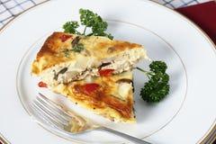 Tranches d'omelette de pomme de terre Photo stock