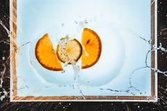 Tranches d'orange et de citron Photo libre de droits