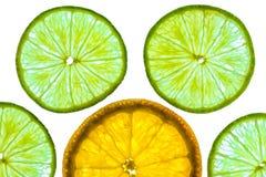 Tranches d'oranges et de chaux Image libre de droits