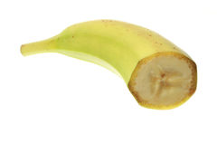 Tranches de banane d'isolement sur le fond blanc Image libre de droits