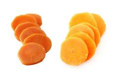 Tranches de carotte de pile image libre de droits