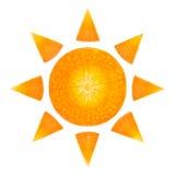 Tranches de carotte sous forme de soleil Images libres de droits