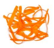 Tranches de carottes fraîches Image stock