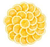 Tranches de citrons Photo stock