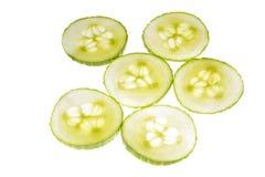 tranches de concombre Photographie stock