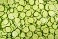 Tranches de concombre Image stock