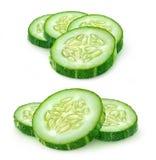 Tranches de concombre photo stock