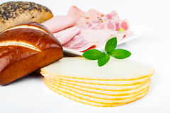 Tranches de fromage photo libre de droits