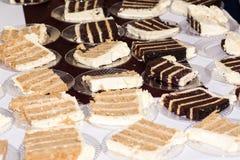 Tranches de gâteau Images stock