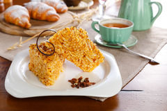 Tranches de gâteau Photographie stock