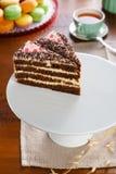 Tranches de gâteau Photos libres de droits
