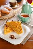 Tranches de gâteau Photos stock