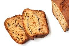 Tranches de gâteau au fromage fait maison de cottage d'isolement sur le fond blanc image stock