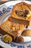 Tranches de gâteau de châtaigne douce Photographie stock