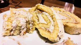 Tranches de gâteau de petit pain au café Images libres de droits