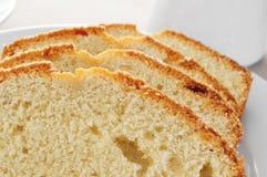 Tranches de gâteau mousseline Photos libres de droits