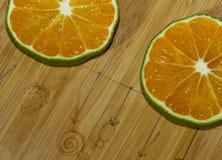 Tranches de mandarine et de chaux Photos libres de droits